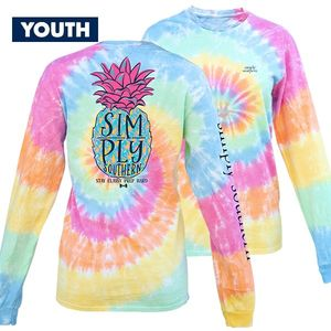 Tiedye Pineapple YOUTH Long Sleeve Tee by Simply Southern