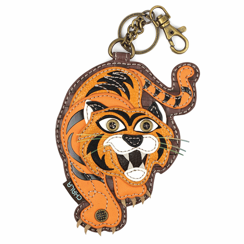 Tiger Key Fob and Coin Purse by Chala