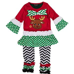 Toddler Reindeer Dress Set by Simply Southern