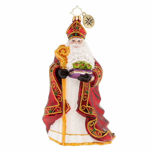 Too Blessed To Stress Santa Ornament by Christopher Radko