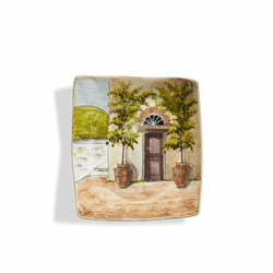 Toscana Brown Door Wall Plate - Arte Italica