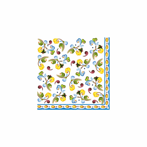 """Toscana Patterned 10"""" x 10"""" Paper Cocktail Napkins (Pack of 20) by Le Cadeaux"""