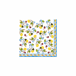 "Toscana Patterned 10"" x 10"" Paper Cocktail Napkins (Pack of 20) by Le Cadeaux"