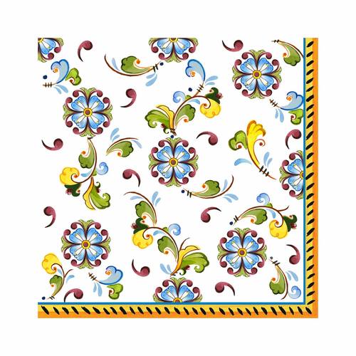 """Toscana Patterned 15.75"""" x 15.75"""" Paper Dinner Napkins (Pack of 20) by Le Cadeaux"""