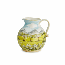 Toscana Pitcher with White Blossoms - Arte Italica