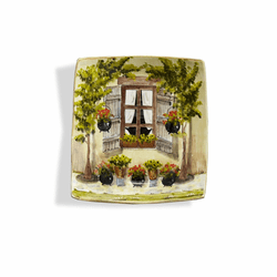 Toscana Window Wall Plate - Arte Italica