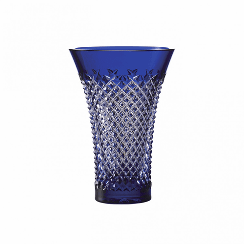 """Treasures of the Sea Alana 8"""" Blue Flared Vase by Waterford"""
