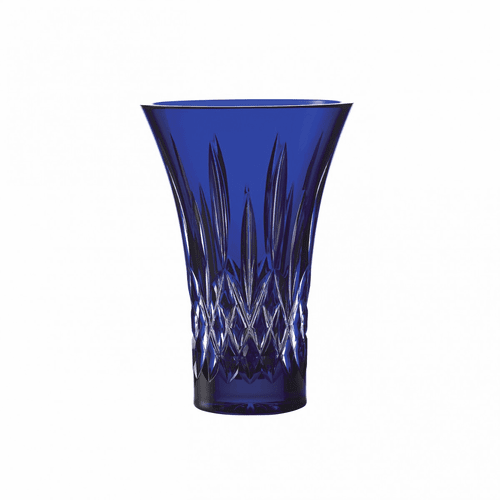 """Treasures of the Sea Lismore 8"""" Blue Flared Vase by Waterford"""