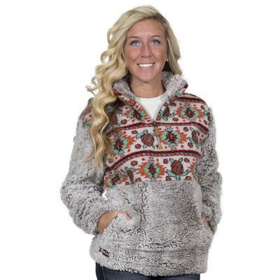 Turtle Sherpa Pullover by Simply Southern