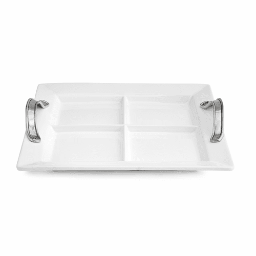 Tuscan Divided Square Tray - Arte Italica