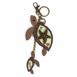 Twin Turtles Key Fob by Chala