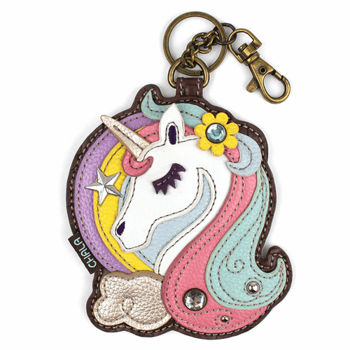 Unicorn Key Fob and Coin Purse by Chala