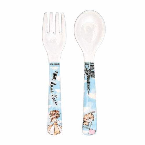 Up in the Air Fork and Spoon by Baby Cie