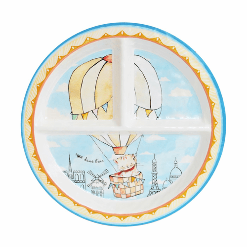 Up in the Air Sectioned Plate by Baby Cie