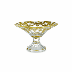 Vetro Gold Scalloped Footed Bowl - Arte Italica