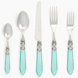 Vietri Aladdin Antique Aqua Five-Piece Place Setting