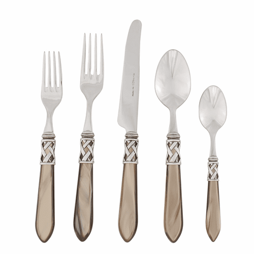 Vietri Aladdin Antique Taupe Five-Piece Place Setting - Special Order