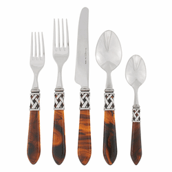 Vietri Aladdin Antique Tortoiseshell Five-Piece Place Setting