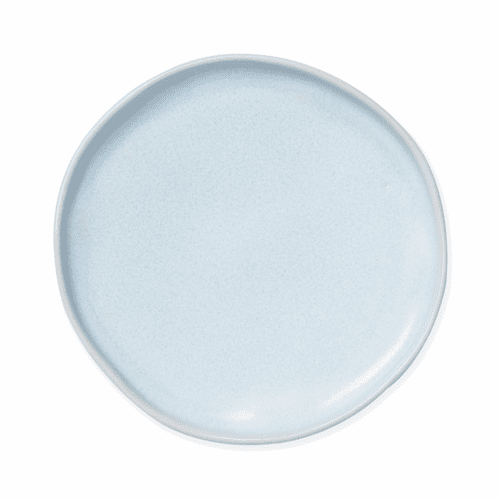 Vietri Bath Essentials Blue Matte Round Tray