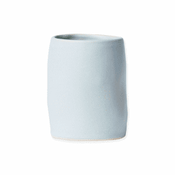 Vietri Bath Essentials Blue Matte Round Vase