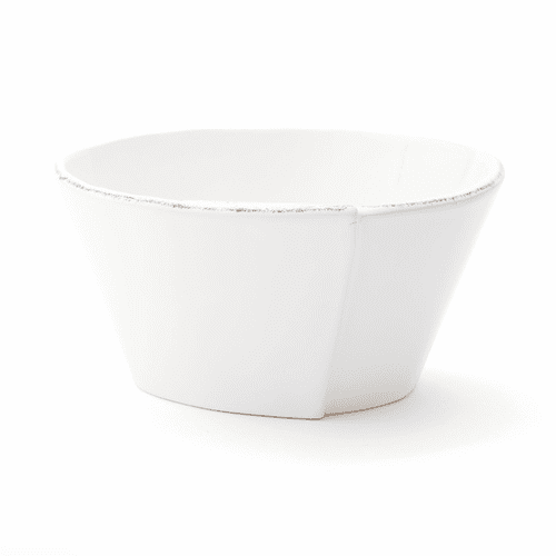 Vietri Lastra White Stacking Cereal Bowl