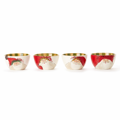 Vietri Old St. Nick Assorted Cereal Bowls - Set of 4