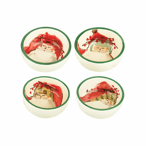 Vietri Old St. Nick Assorted Condiment Bowls - Set of 4