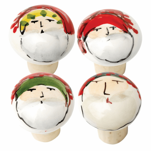 Vietri Old St. Nick Assorted Cork Stoppers - Set of 4