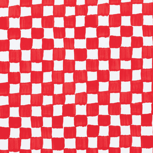Vietri Old St. Nick Red and White Check Gift Wrap Roll