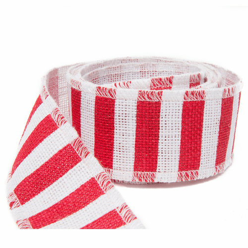 Vietri Old St. Nick Red & White Stripe Ribbon