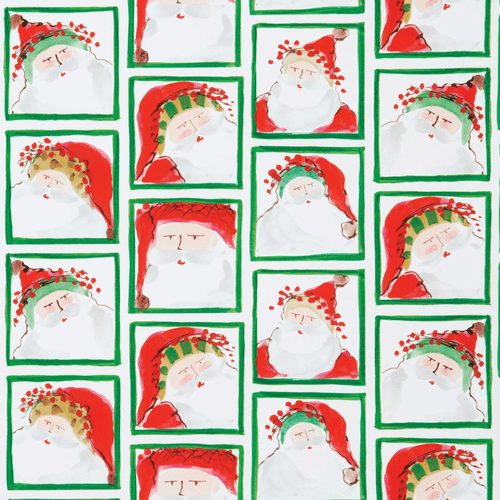 Vietri Old St. Nick Santa Face Gift Wrap Roll