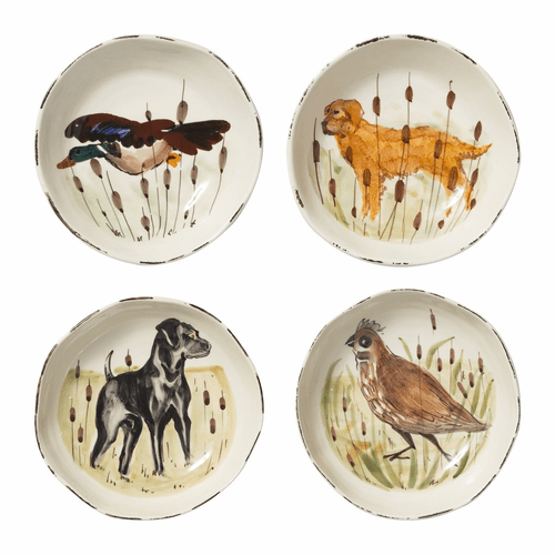 Vietri Wildlife Assorted Pasta Bowls - Set of 4