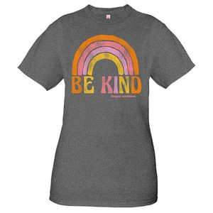 Vintage Dark Heather Gray Be Kind Short Sleeve Tee by Simply Southern