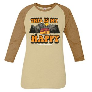 Vintage Oatmeal This is My Happy Long Sleeve Tee by Simply Southern