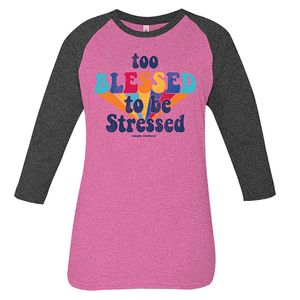 Vintage Pink Too Blessed Long Sleeve Tee by Simply Southern