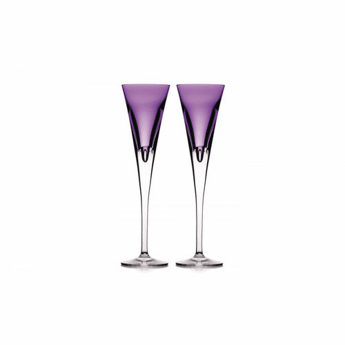 W Heather Flute Pair by Waterford