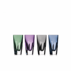 W Mixed Colors Shot Glass Set of 4 by Waterford