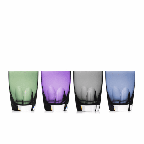 W Mixed Colors Tumbler Set of 4 by Waterford