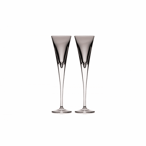 W Shale Flute Pair by Waterford