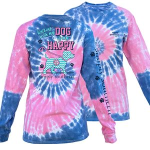 Walking with My Dog Taffy Long Sleeve Tee by Simply Southern