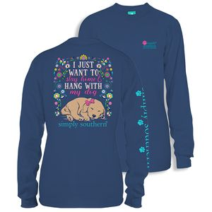 Want My Dog Moonrise Long Sleeve Tee by Simply Southern