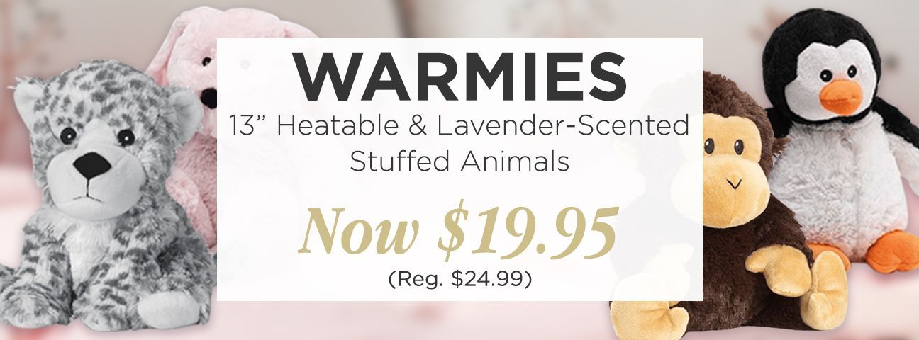 "Warmies 13"" Heatable & Lavender Scented Stuffed Animals"