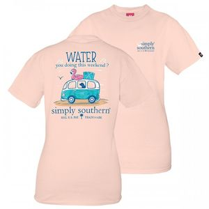 Water You Doing This Weekend Short Sleeve Tee by Simply Southern
