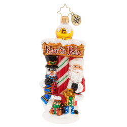 Welcome to the North Pole Ornament by Christopher Radko
