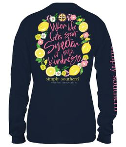 When Life Gets Sour Midnight Long Sleeve Tee by Simply Southern