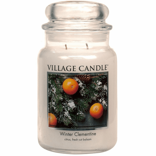 Winter Clementine 26 oz. Premium Round by Village Candles