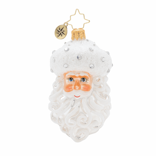 Winter Frost Santa Gem Ornament by Christopher Radko
