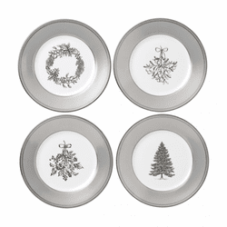 """Winter White Salad Plate 8"""" Set/4 by Wedgwood"""