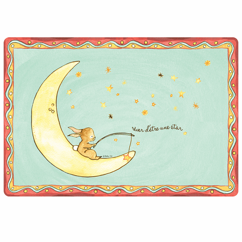 "Wish on a Star Anti-Slip 17"" x 11.5"" Placemat by Baby Cie"