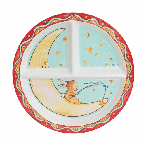 Wish on a Star Sectioned Plate by Baby Cie